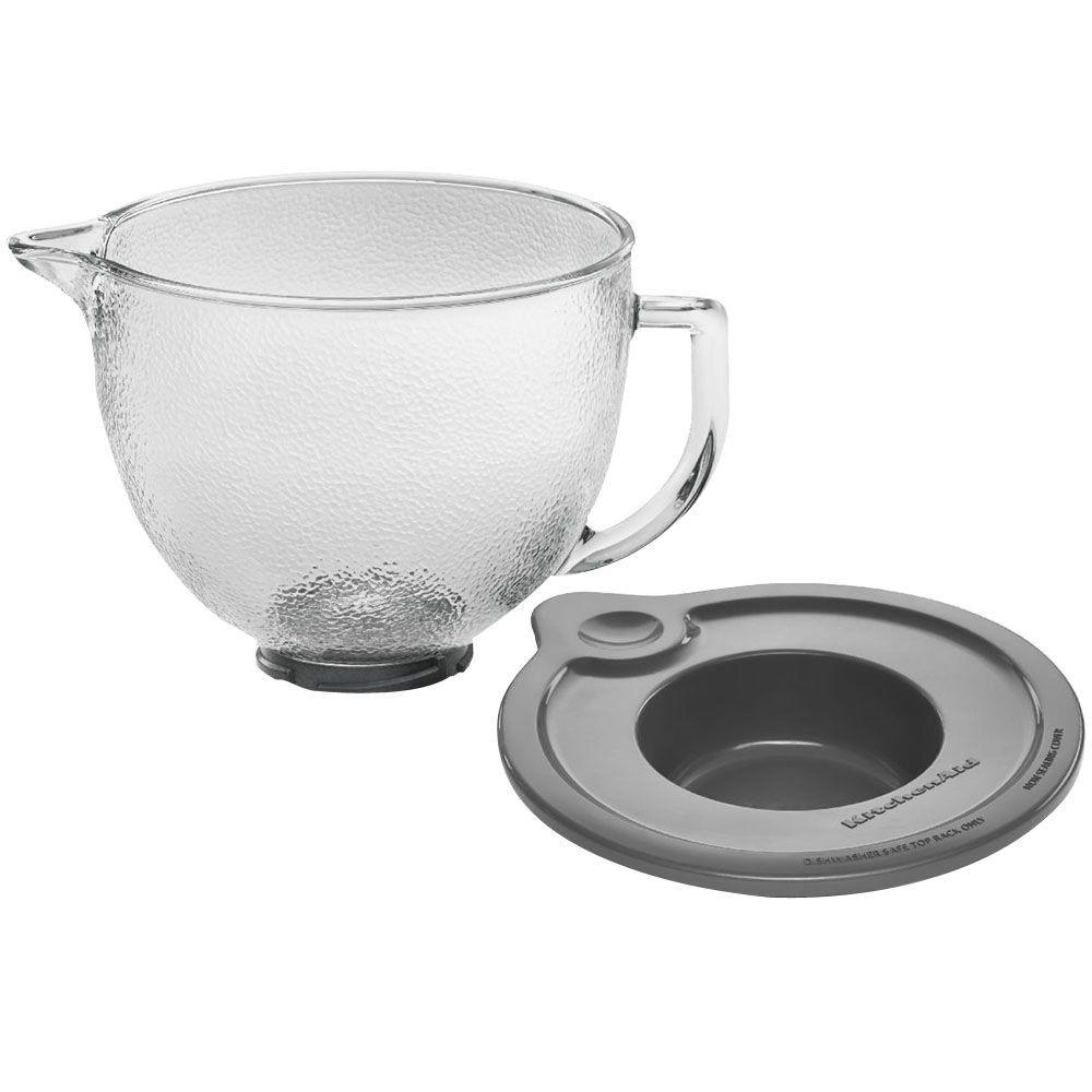 5 Qt Hammered Glass Bowl For Tilt Head Stand Mixer