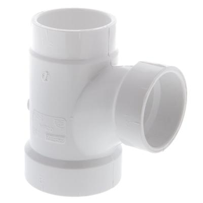 2 in. x 1-1/2 in. x 1-1/2 in. PVC All Hub Sanitary Tee