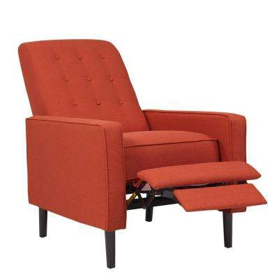 Fabulous Red Mid Century Modern Recliners Chairs The Home Depot Short Links Chair Design For Home Short Linksinfo