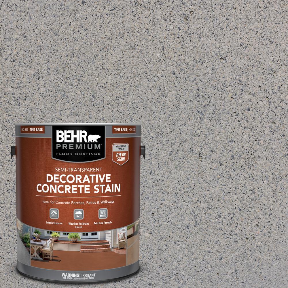 1 gal. #DCS-824 Greystone Semi-Transparent Flat Interior/Exterior Decorative Concrete Stain
