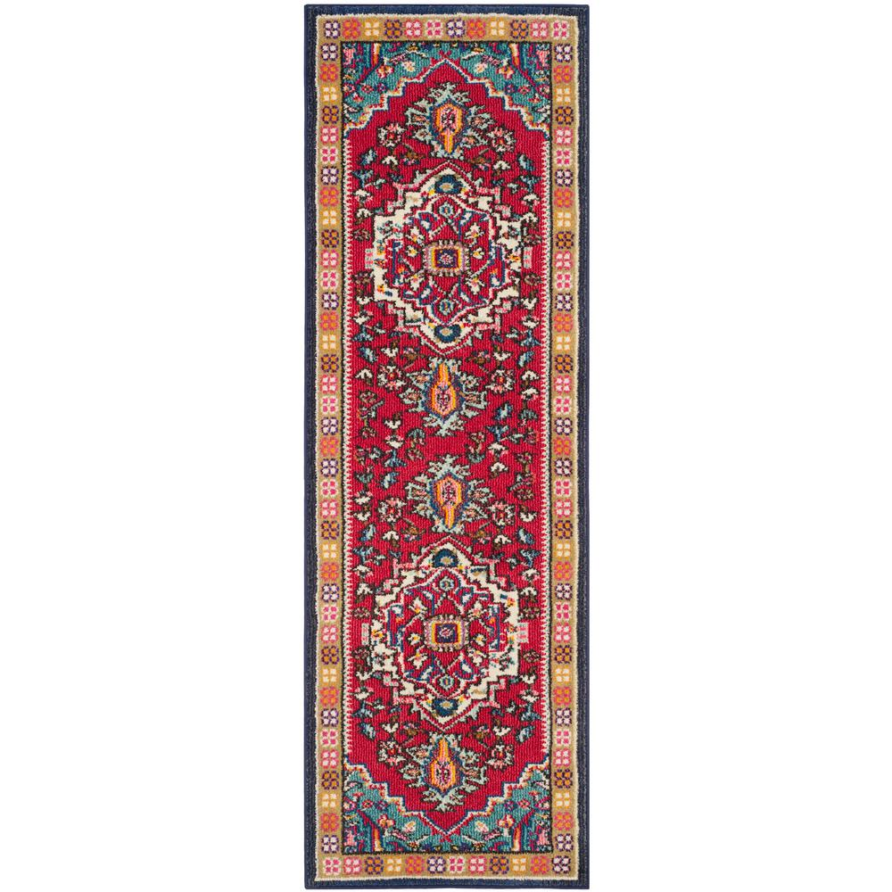 Safavieh Monaco Red Turquoise 2 Ft X 6 Runner Rug