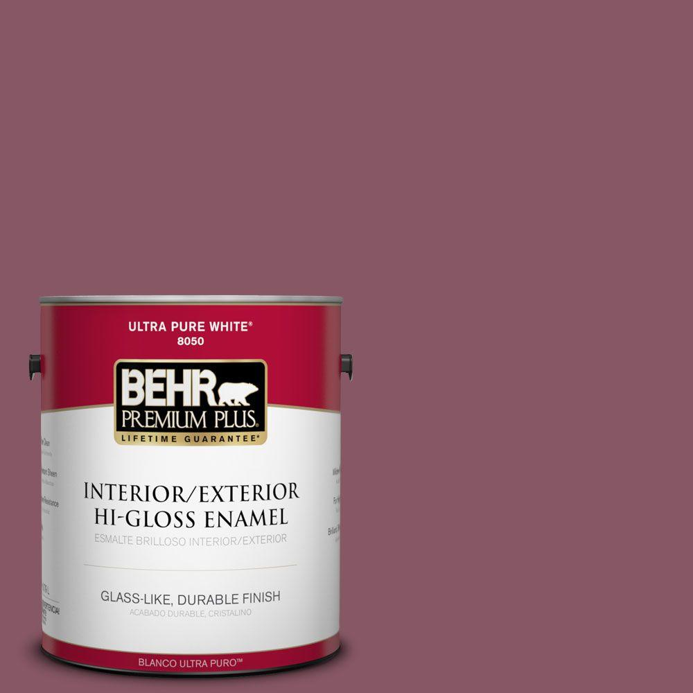1-gal. #100D-6 Rose Garland Hi-Gloss Enamel Interior/Exterior Paint