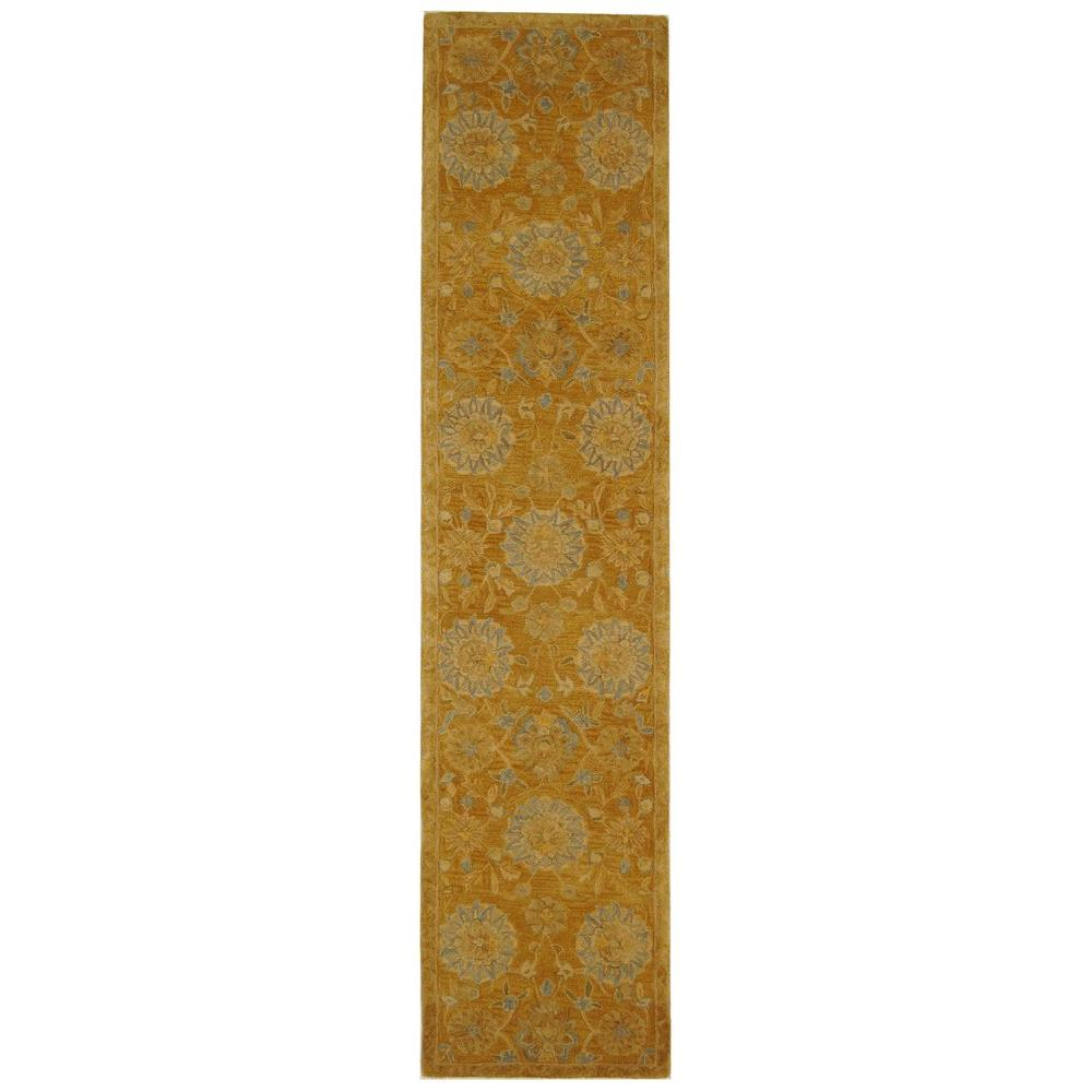 Anatolia Gold/Blue 2 ft. 3 in. x 8 ft. Runner