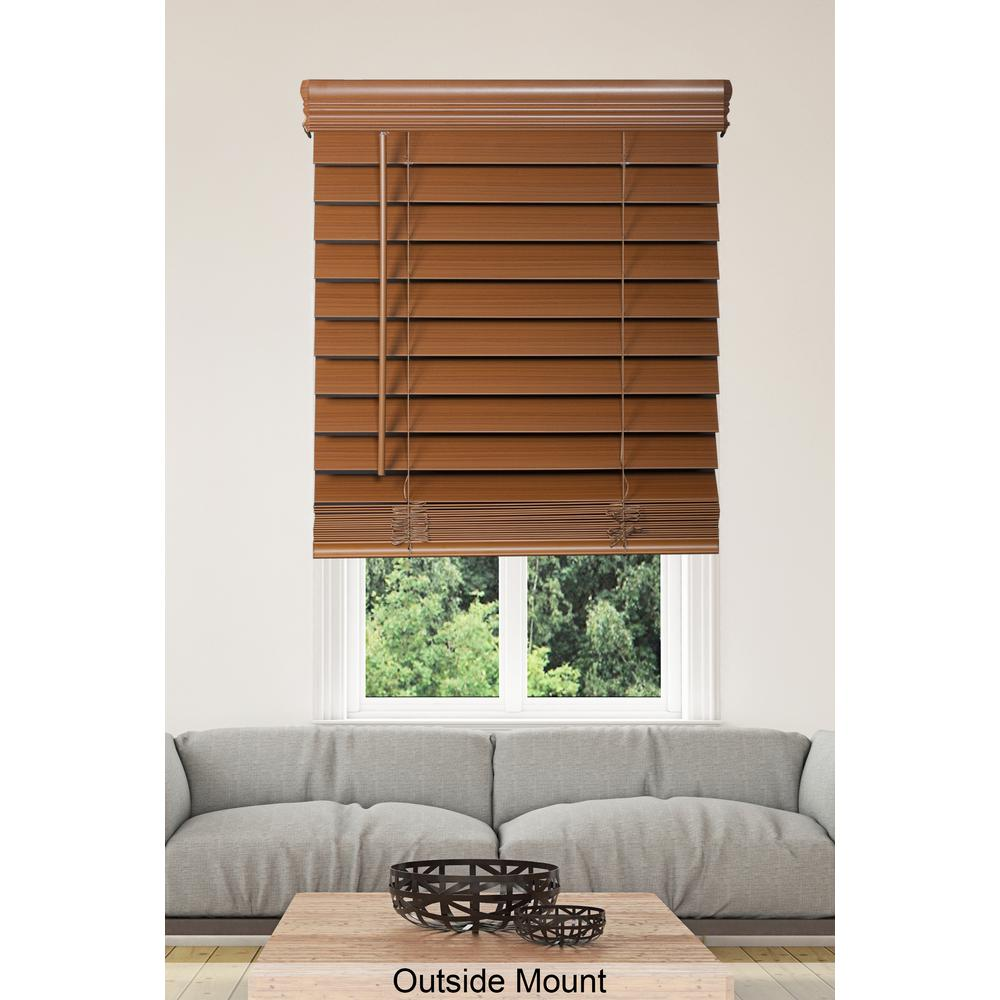Home Decorators Collection Cut To Width Maple Cordless 25 In Premium Faux Wood Blind