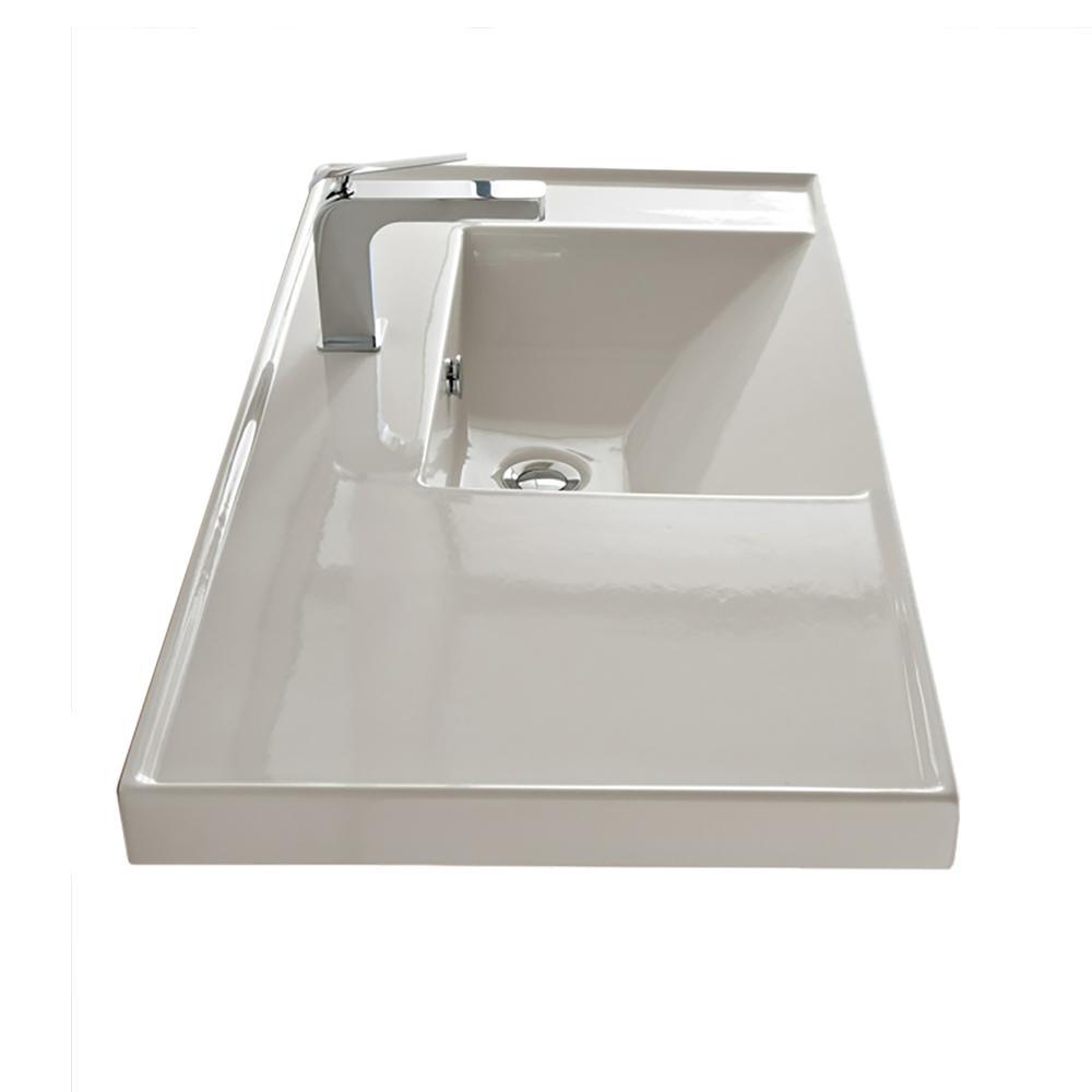 ML Wall Mounted Vessel Bathroom Sink in White
