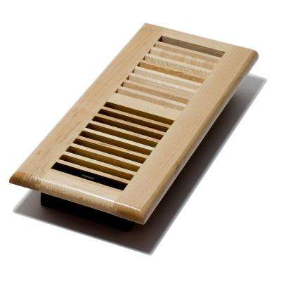 4 in. x 12 in. Maple Floor Register