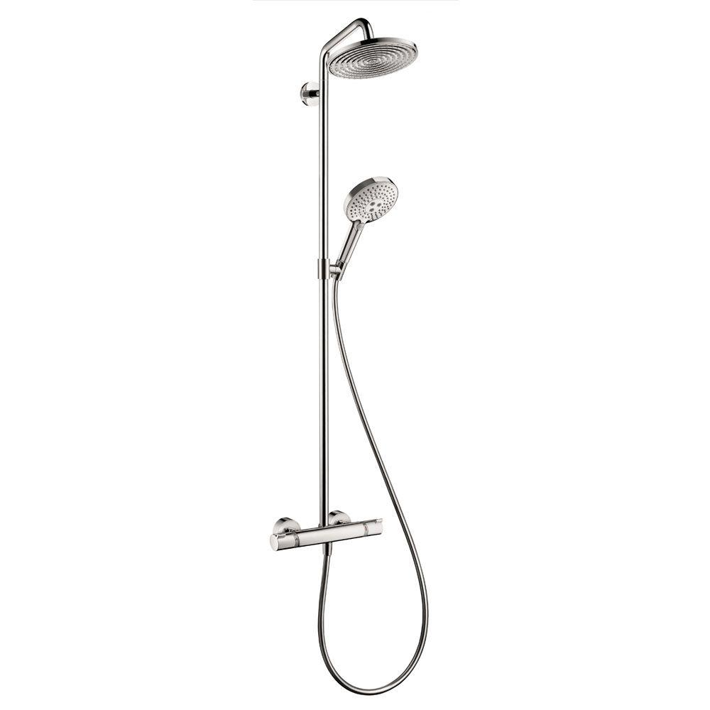 Hansgrohe Raindance S 240 2 Jet Shower Pipe In Chrome 27115001 The Home Depot