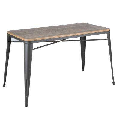 Oregon Grey and Brown Utility Table