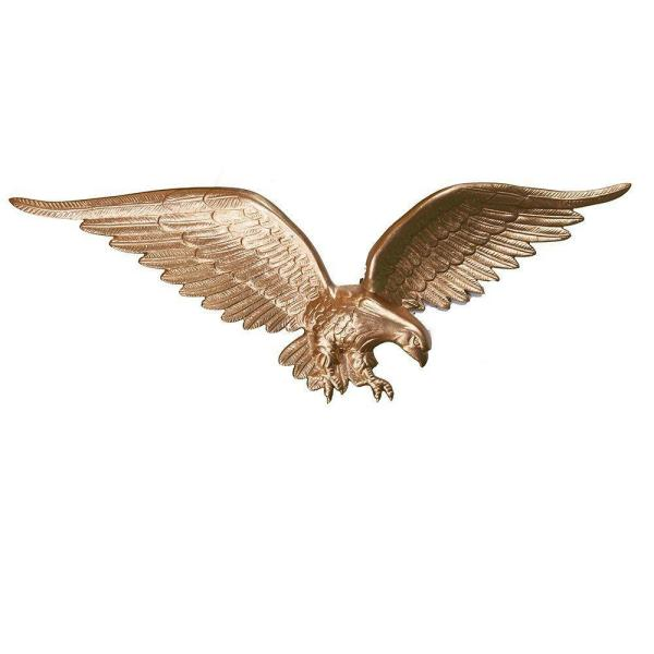 24 in. Gold Bronze Wall Eagle