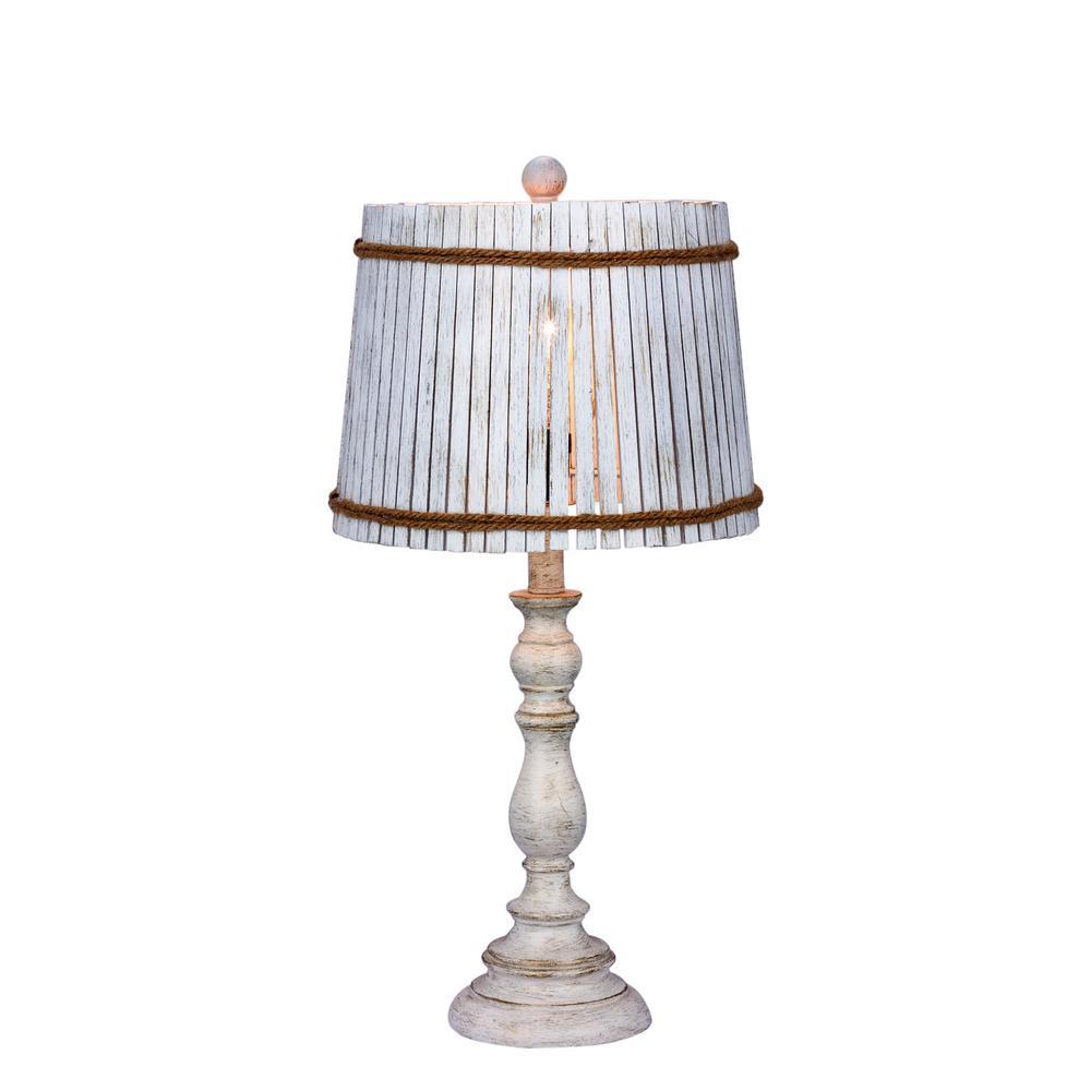 Good White Resin Table Lamp