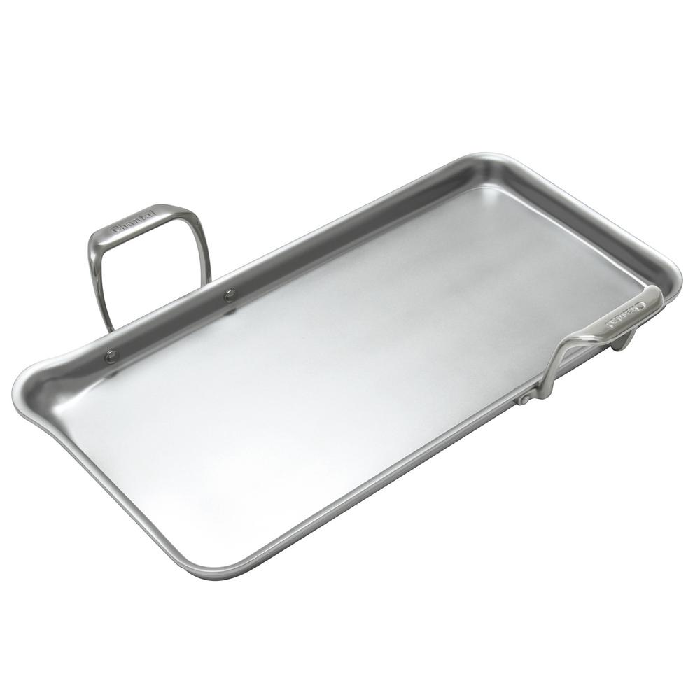 21 Supreme 19 in. Stainless Steel Tri-Ply Griddle