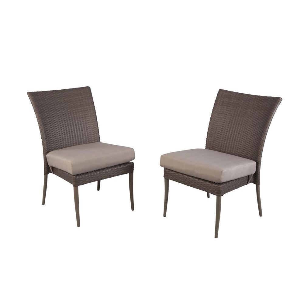 Posada Patio Dining Chair With Gray Cushion (2 Pack)