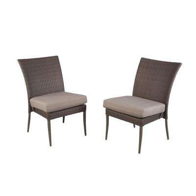 Posada Patio Dining Chair with Gray Cushion (2-Pack)