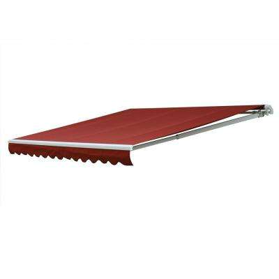 20 ft. 7000 Series Motorized Retractable Awning (122 in. Projection) in Red