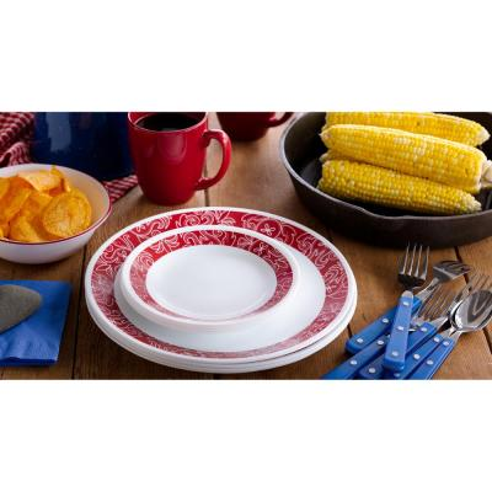 Classic 16-Piece Bandhani Dinnerware Set