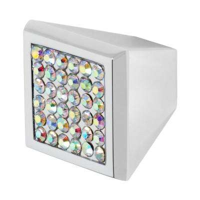 Marilyn 1 in. Chrome with Multi-Color Crystal Cabinet Knob
