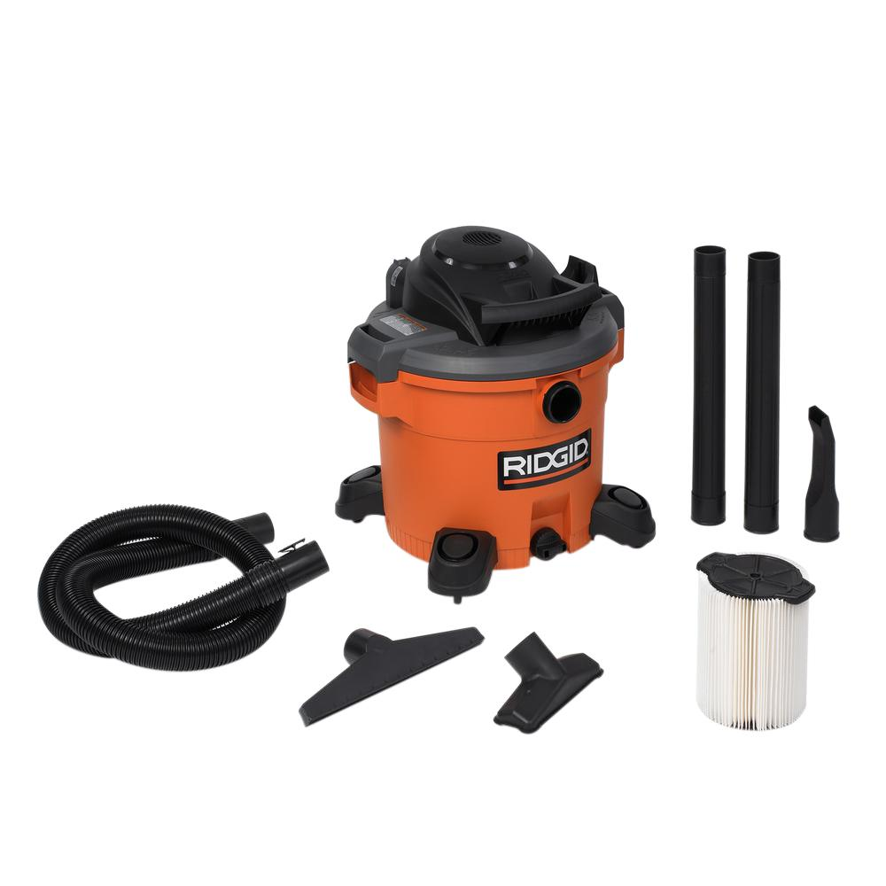 RIDGID 12 gal Wet Dry Vacuum with Detachable Blower Built In Accessory Storage