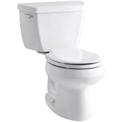 Wellworth Classic 2-Piece 1.28 GPF Single Flush Round Front Toilet with Class Five Flush Technology in White