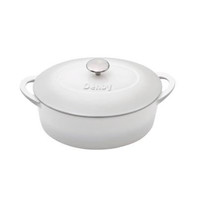 Natural Canvas Cast Iron 4.2 Qt. Oval Casserole