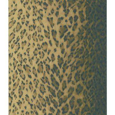 Dark Brown Leopard Skin Wallpaper Sample