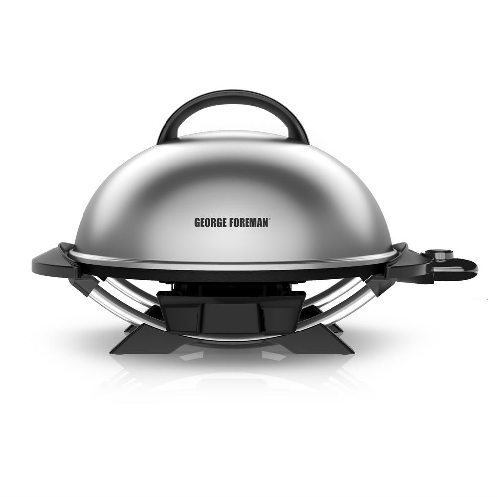 George Foreman Indoor Outdoor Electric Grill In Platinum
