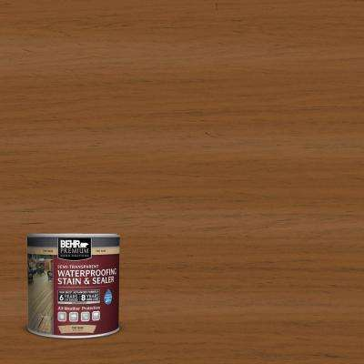 8 oz. #ST-115 Antique Brass Semi-Transparent Waterproofing Exterior Wood Stain and Sealer Sample