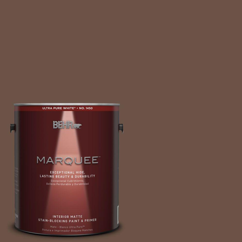 1 gal. #MQ2-5 Well Bred Brown One-Coat Hide Matte Interior Paint