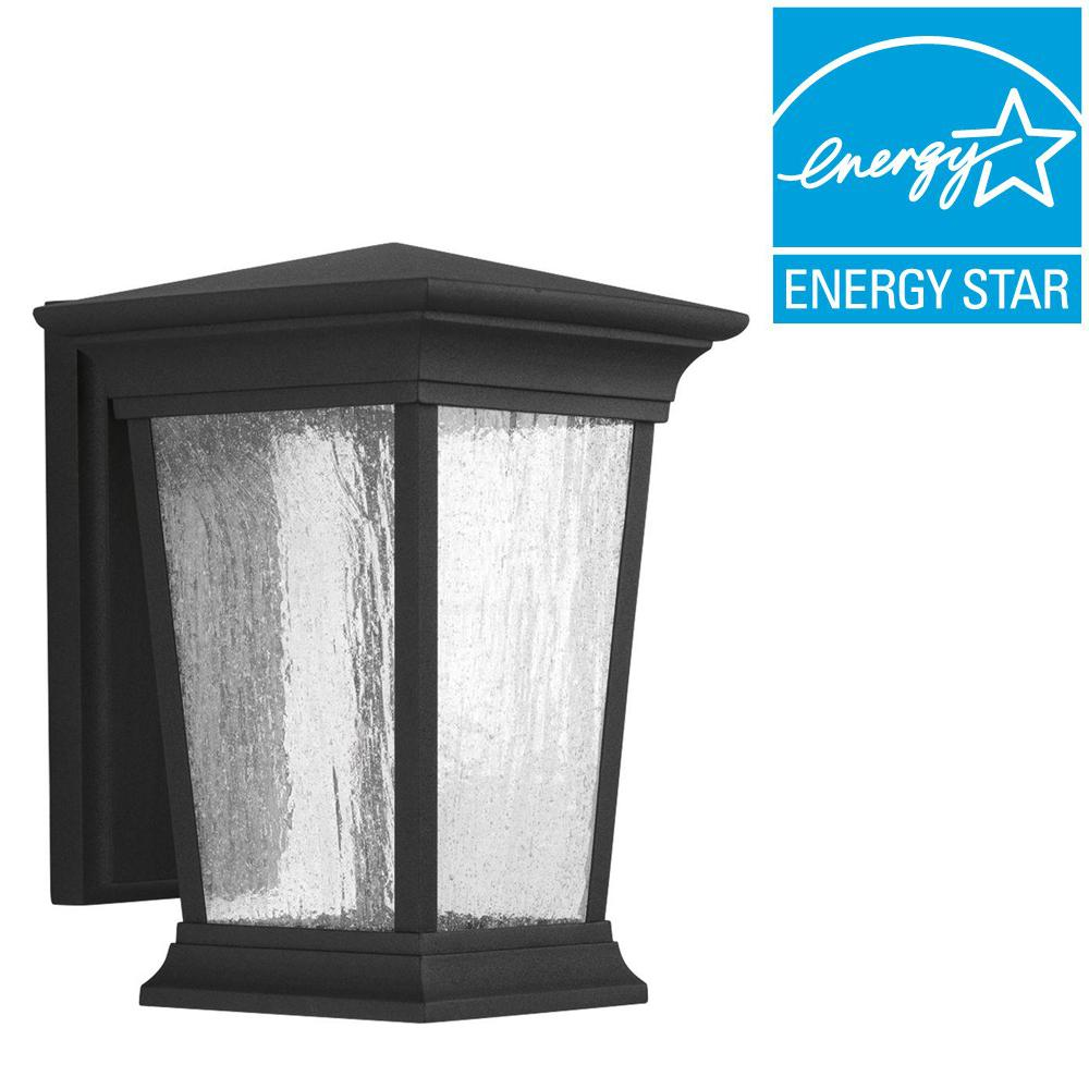 Arrive Collection 1-Light Outdoor 7.5 Inch Black LED Wall Lantern