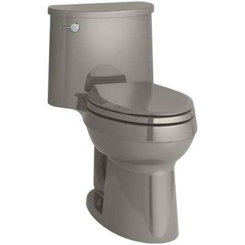 Adair Comfort Height 1-piece 1.28 GPF Single Flush Elongated Toilet with AquaPiston Flush Technology in Cashmere