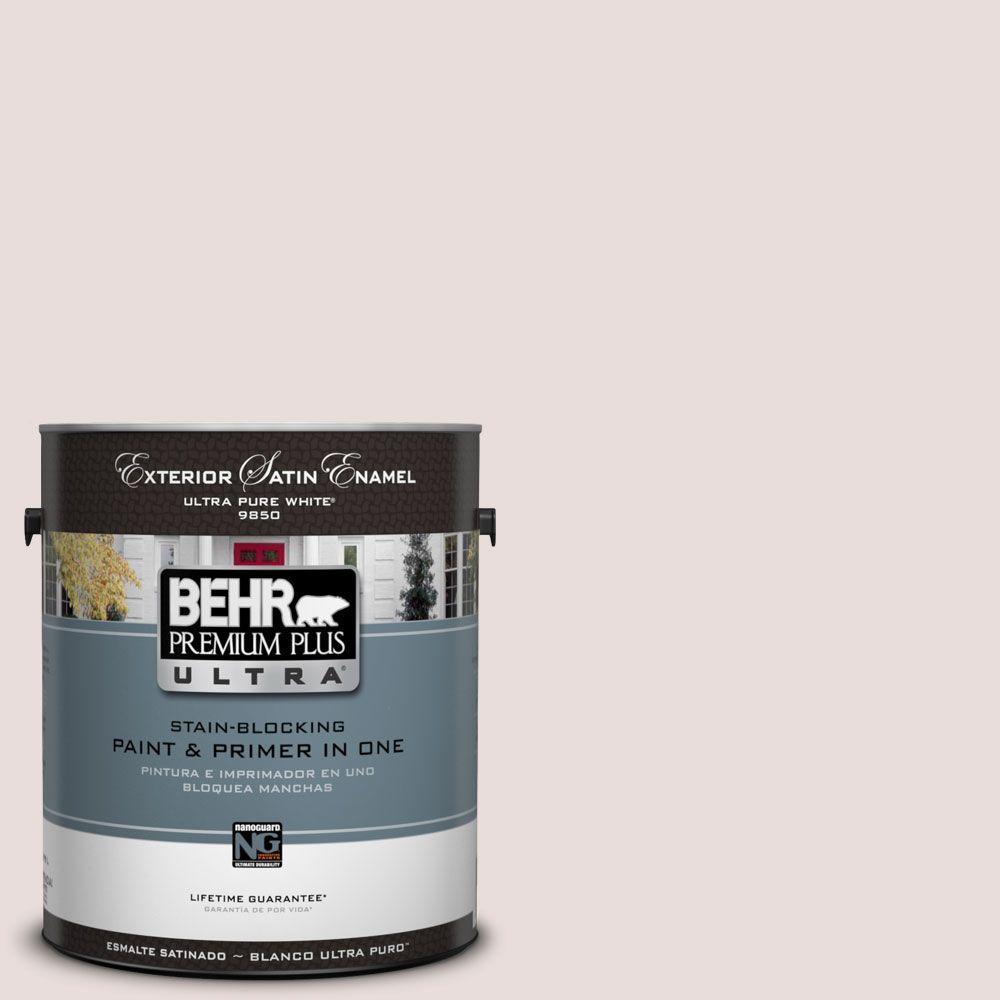 BEHR Premium Plus Ultra 1-Gal. #UL120-14 Pale Cashmere Satin Enamel Exterior Paint