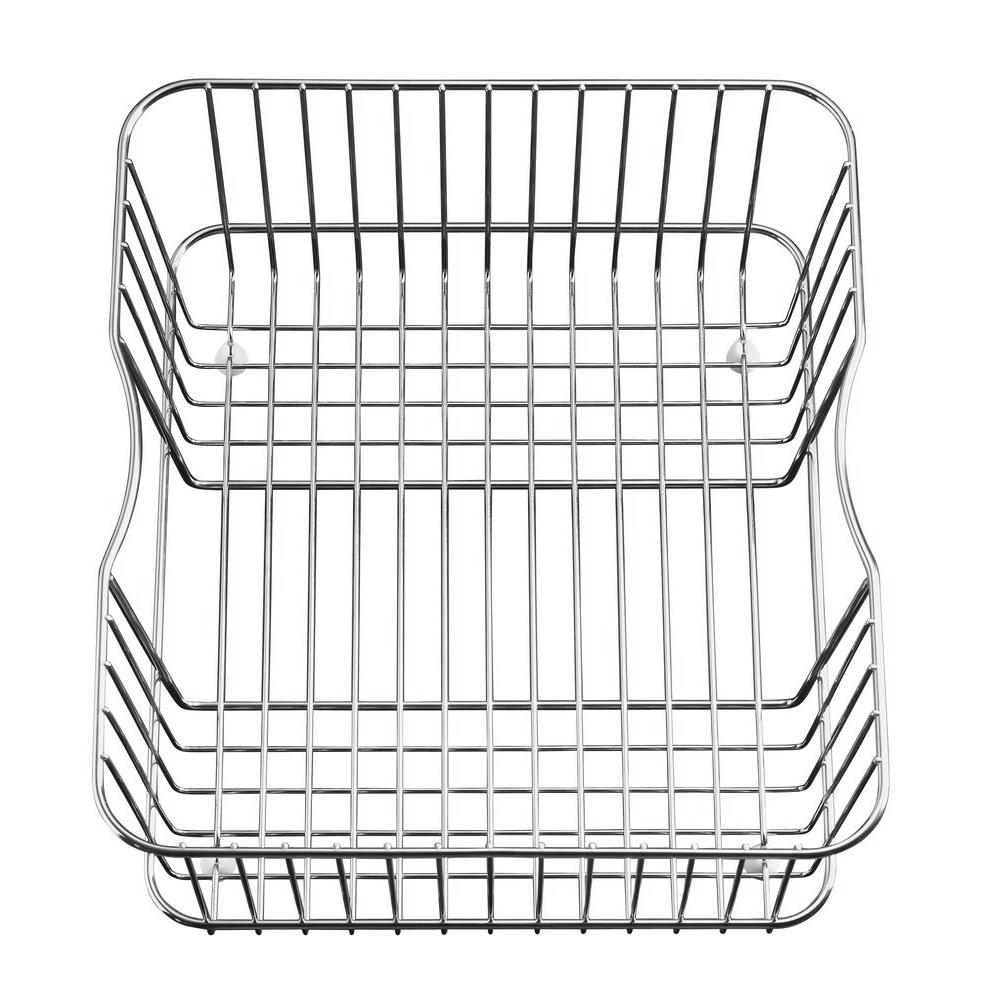 kohler coated wire rinse basket in stainless