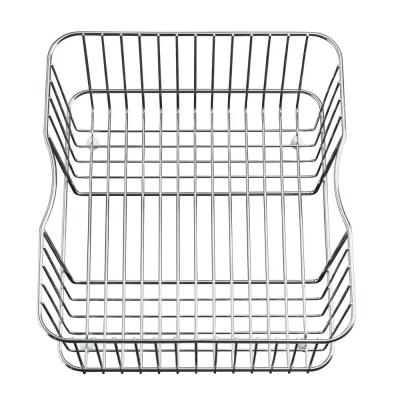 Coated Wire Rinse Basket in Stainless-Steel
