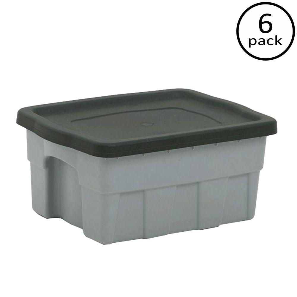 Rubbermaid 54 Gal. 42 1/2 In. X 21 1/2 In. X 18 3/5 In. Hi Top Storage Tote FG3A05H2MICBL    The Home Depot
