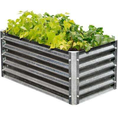 Alto Series 22 in. x 40 in. x 17 in. Rectangle Galvanized Metal Raised Garden Bed
