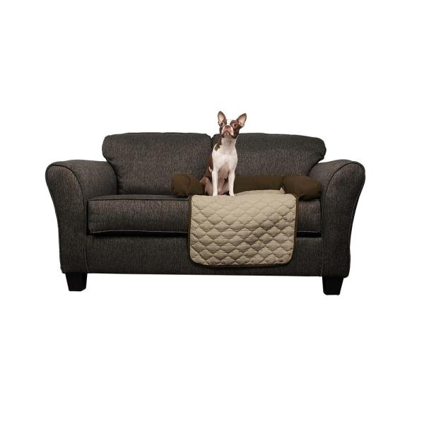 Quick Fit Wubba Slipcover 21x34 Chocolate-Natural