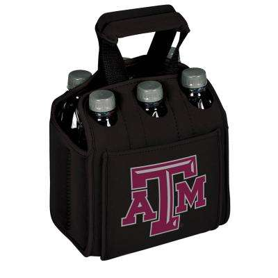 University A and M Aggies 6-Bottles Black Beverage Carrier