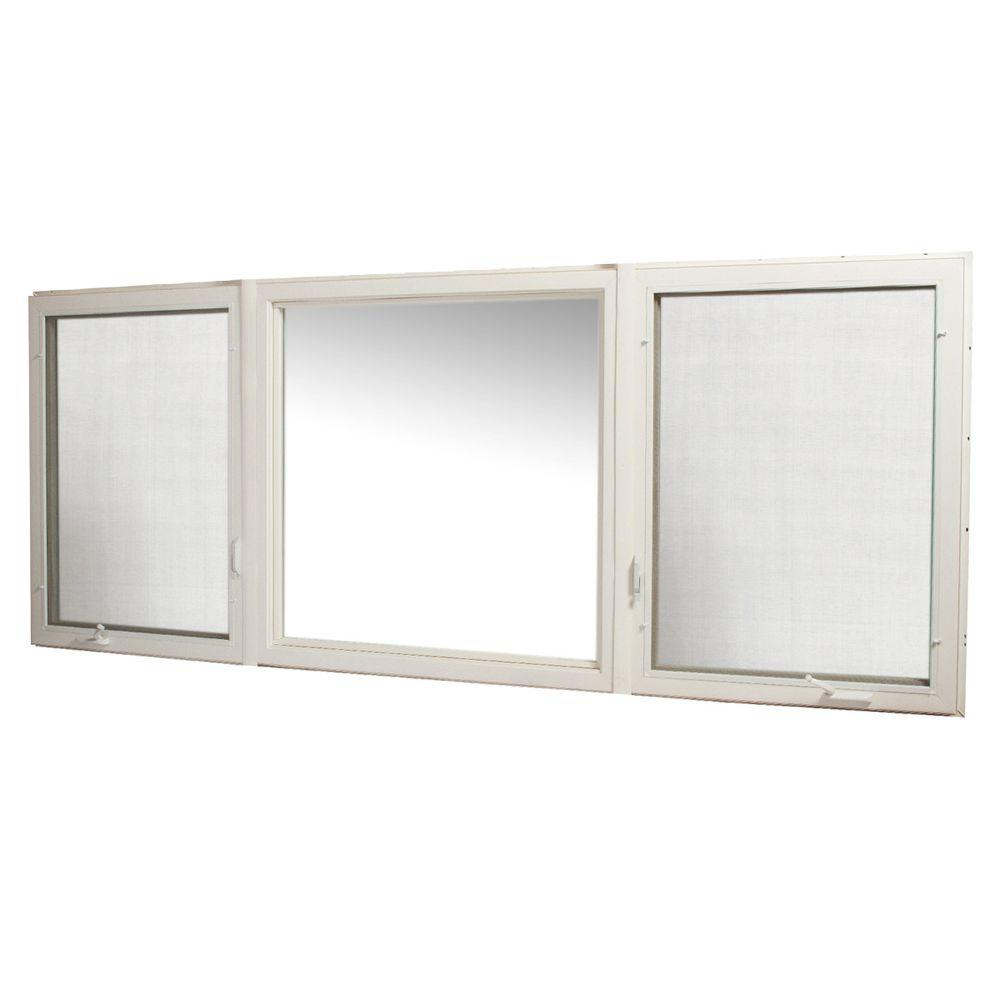 Tafco windows 119 in x 48 in vinyl casement window with for Window home depot