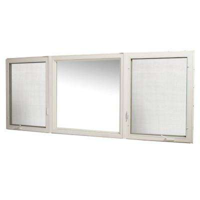 119 in. x 48 in. Vinyl Casement Window with Screen - White