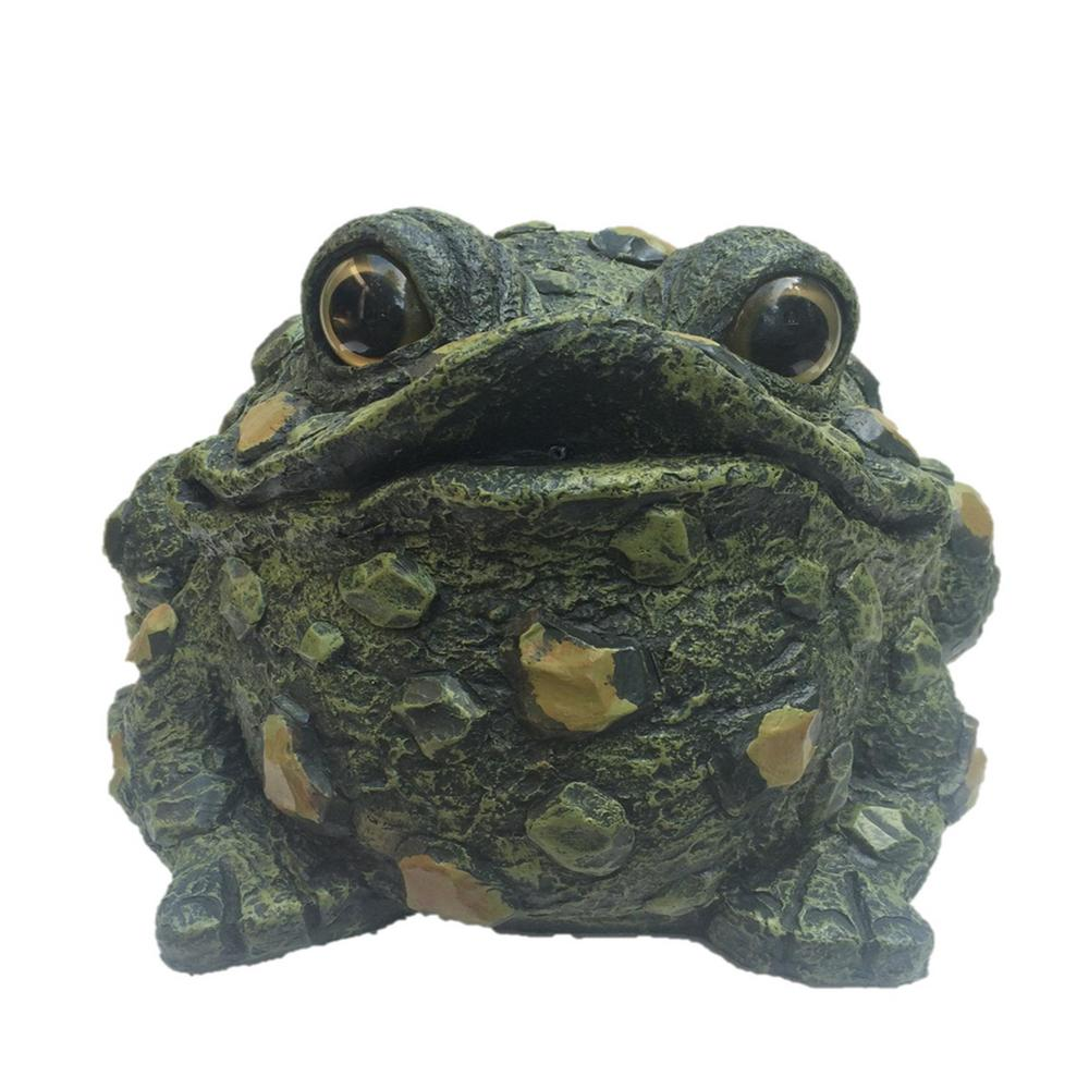 Toad Hollow 10 1 2 In Extra Large Sitting Motion Activated Croaking Frog Statue