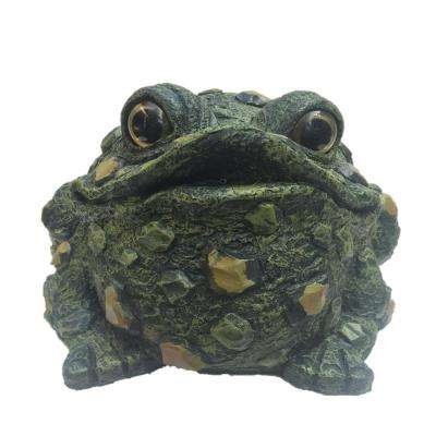 10 1/2 in. Extra Large Sitting Toad Motion Activated (CROAKING) Frog Statue