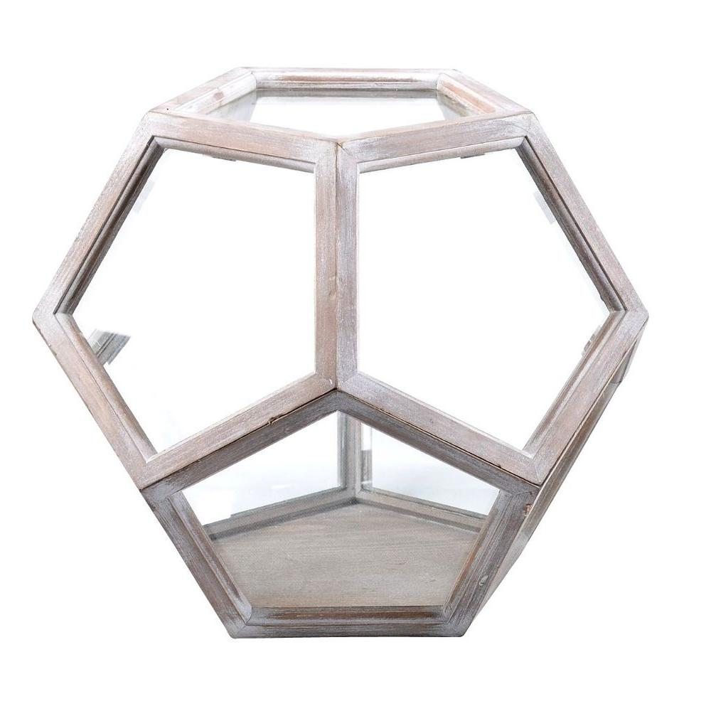 Arcadia Garden Products Neoponset 15 in. x 13 in. Glass and Wood ...