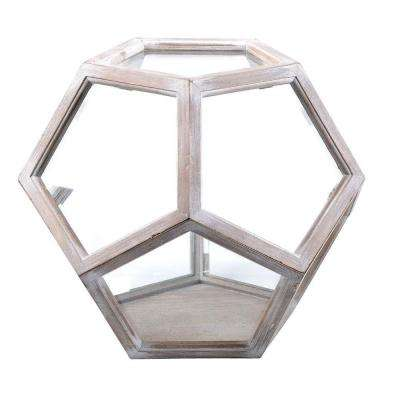Neoponset 15 in. x 13 in. Glass and Wood Globe Terrarium