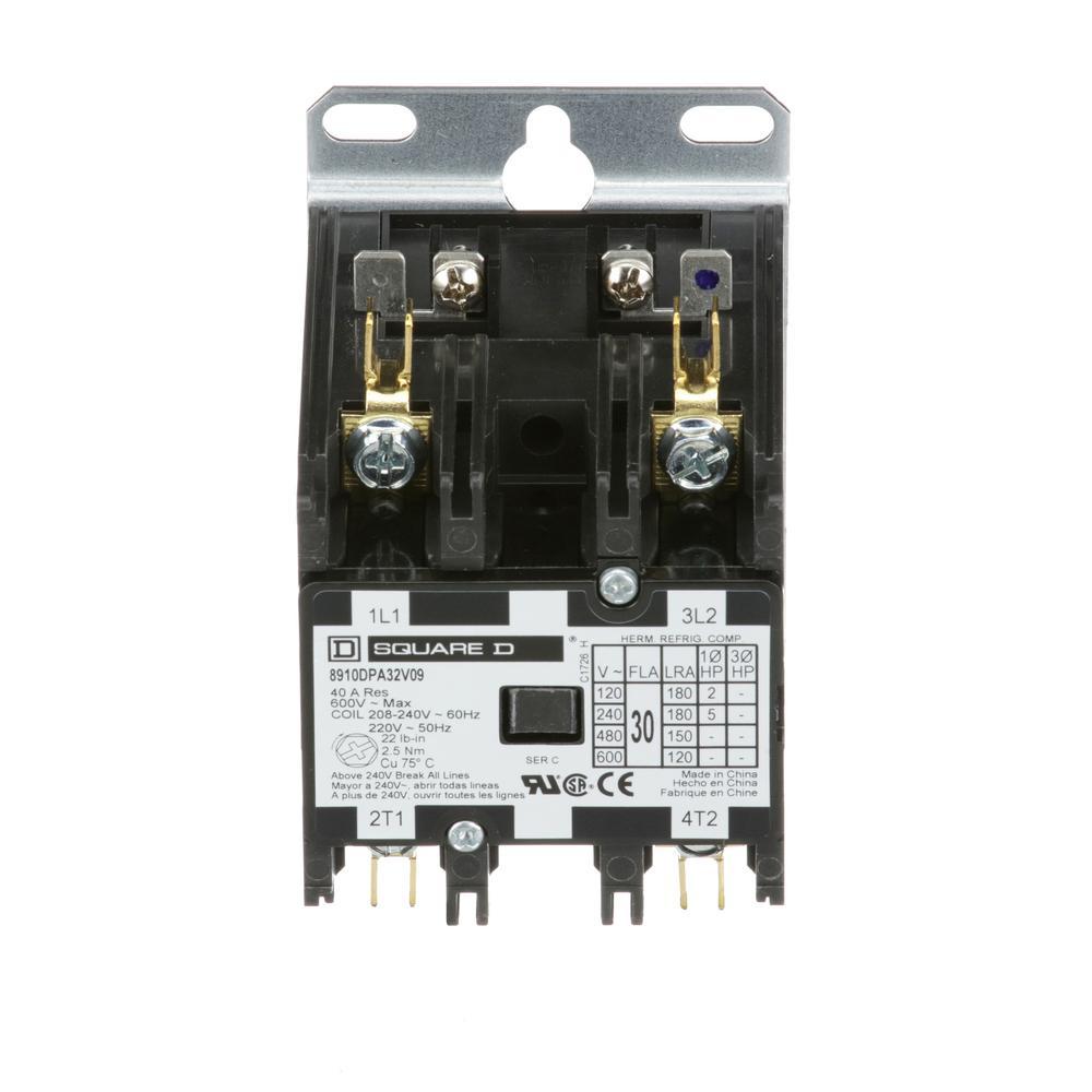 Packard 24 Volt Coil Voltage F L Amp 40 Pole 2 Res 50 Definite 480 Contactor Wiring Diagram 30 208 240 Ac Purpose 20