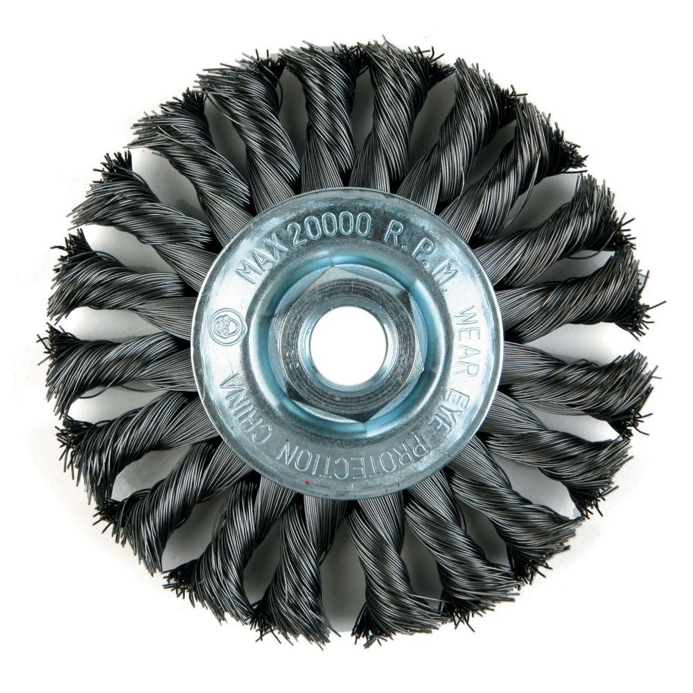Lincoln Electric 4 in. Knotted Wire Wheel Brush