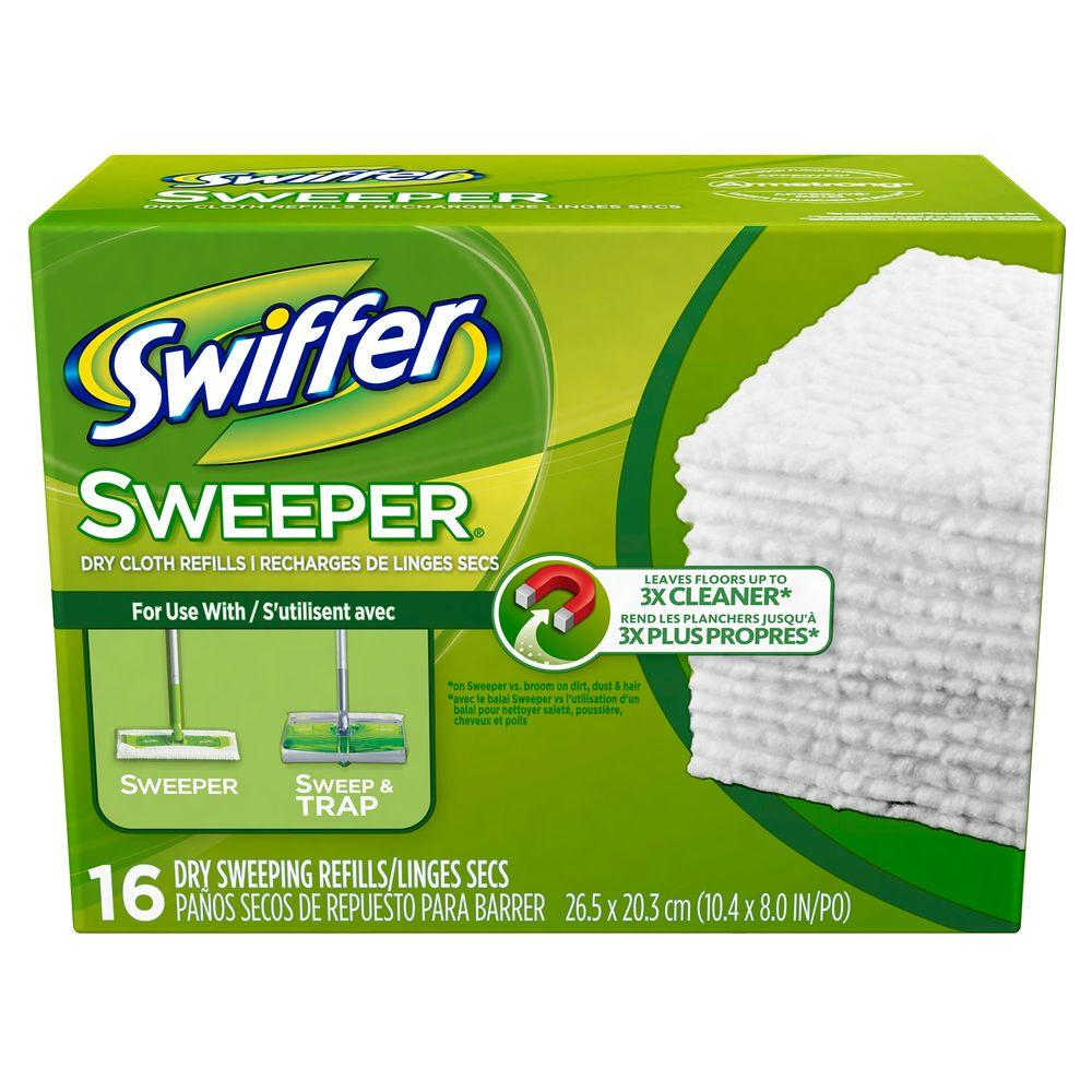 Swiffer Sweeper Unscented Dry Cloth Refills (16-Count)
