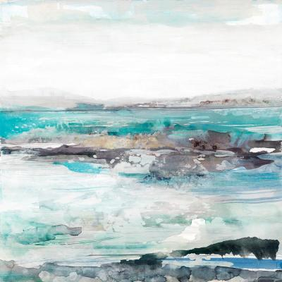 "54 in. x 54 in. ""Sea Foam I"" by Maya Woods Wall Art"