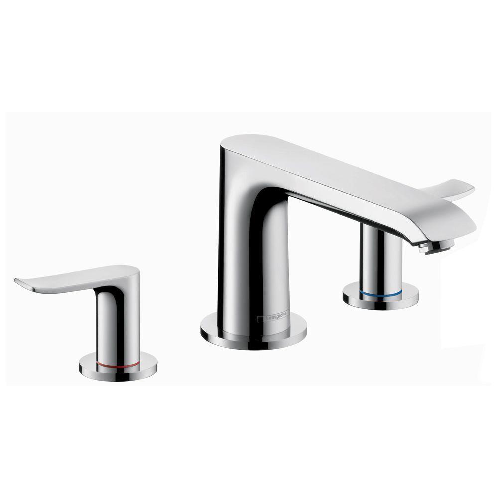 Metris 2-Handle Deck-Mount Roman Tub Faucet Trim Kit in Chrome (Valve Not Included)