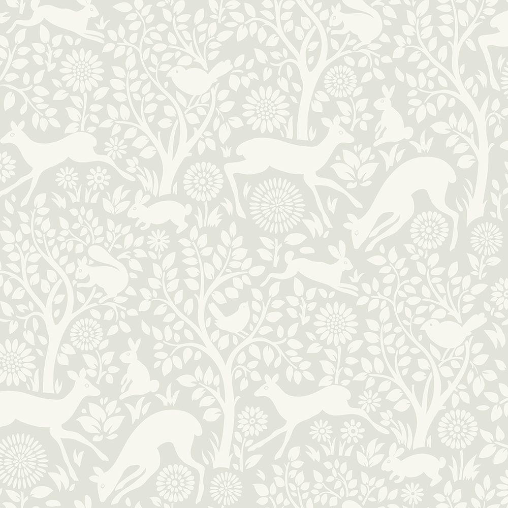 Chesapeake Anahi Light Grey Forest Fauna Wallpaper-HAS01232 - The Home Depot - Chesapeake Anahi Light Grey Forest Fauna Wallpaper-HAS01232 - The
