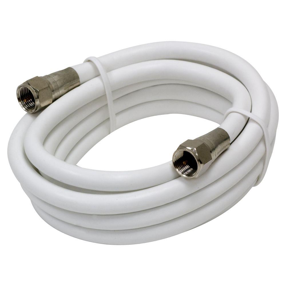 GE 6 ft. White RG6 Coax Cable
