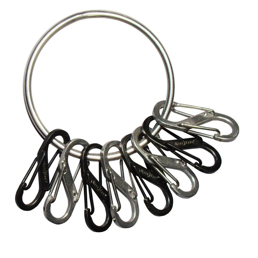 Steel Big Key Ring with Carabiners